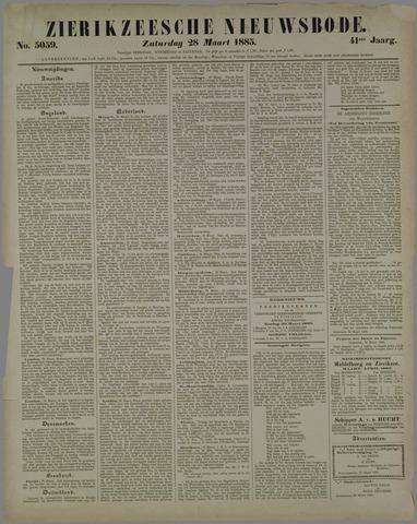 Zierikzeesche Nieuwsbode 1885-03-28
