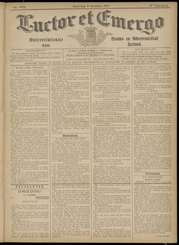Luctor et Emergo. Antirevolutionair nieuws- en advertentieblad voor Zeeland / Zeeuwsch-Vlaanderen. Orgaan ter verspreiding van de christelijke beginselen in Zeeuwsch-Vlaanderen 1917-10-06