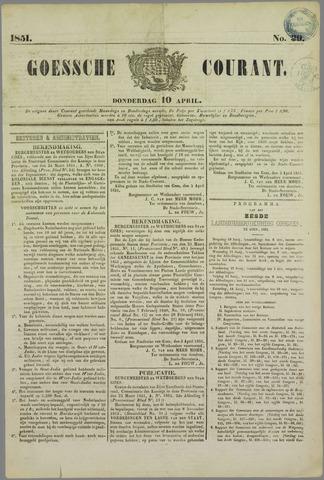 Goessche Courant 1851-04-10