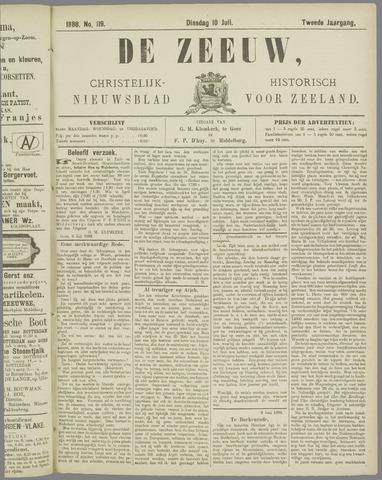 De Zeeuw. Christelijk-historisch nieuwsblad voor Zeeland 1888-07-10