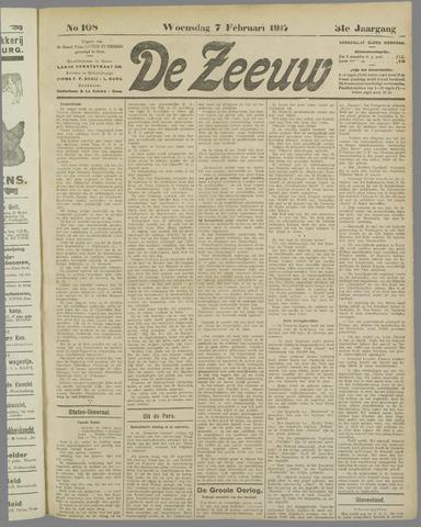 De Zeeuw. Christelijk-historisch nieuwsblad voor Zeeland 1917-02-07