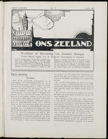 Ons Zeeland / Zeeuwsche editie 1926-07-31