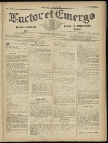 Luctor et Emergo. Antirevolutionair nieuws- en advertentieblad voor Zeeland / Zeeuwsch-Vlaanderen. Orgaan ter verspreiding van de christelijke beginselen in Zeeuwsch-Vlaanderen 1916-04-29