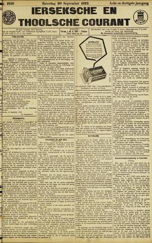 Ierseksche en Thoolsche Courant 1922-09-30