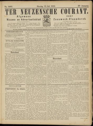 Ter Neuzensche Courant. Algemeen Nieuws- en Advertentieblad voor Zeeuwsch-Vlaanderen / Neuzensche Courant ... (idem) / (Algemeen) nieuws en advertentieblad voor Zeeuwsch-Vlaanderen 1910-07-19