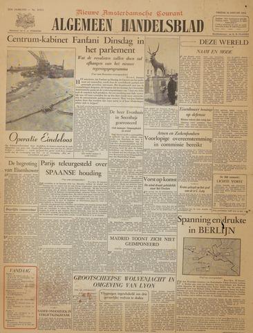 Watersnood documentatie 1953 - kranten 1954-01-22