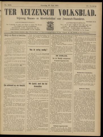 Ter Neuzensch Volksblad. Vrijzinnig nieuws- en advertentieblad voor Zeeuwsch- Vlaanderen / Zeeuwsch Nieuwsblad. Nieuws- en advertentieblad voor Zeeland 1915-06-26