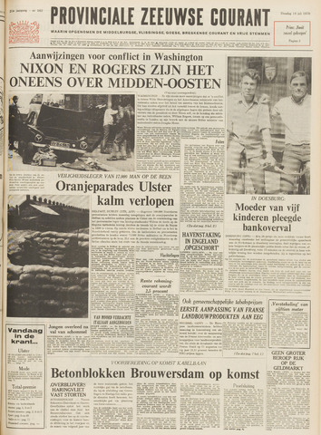 Provinciale Zeeuwse Courant 1970-07-14