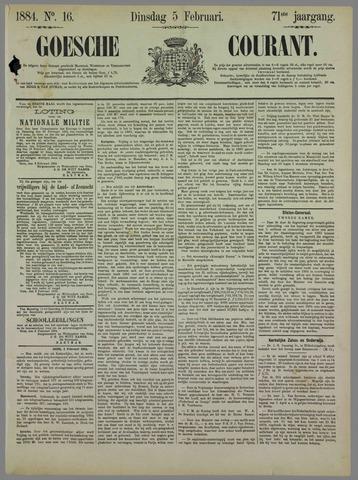 Goessche Courant 1884-02-05
