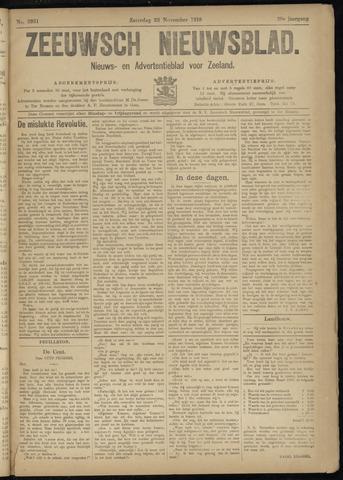 Ter Neuzensch Volksblad. Vrijzinnig nieuws- en advertentieblad voor Zeeuwsch- Vlaanderen / Zeeuwsch Nieuwsblad. Nieuws- en advertentieblad voor Zeeland 1918-11-23