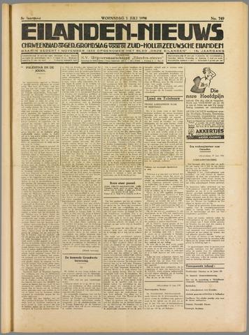 Eilanden-nieuws. Christelijk streekblad op gereformeerde grondslag 1936-07-01