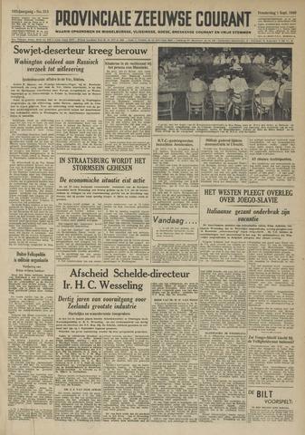 Provinciale Zeeuwse Courant 1949-09-01