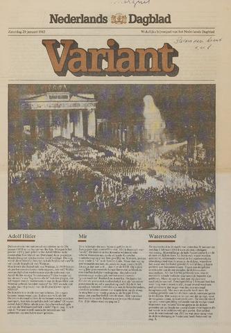 Watersnood documentatie 1953 - kranten 1983-01-29