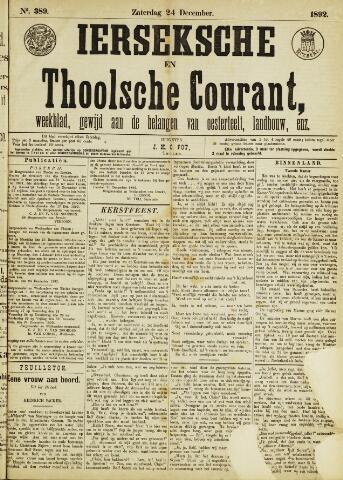Ierseksche en Thoolsche Courant 1892-12-24