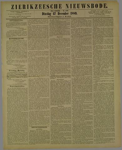 Zierikzeesche Nieuwsbode 1889-12-17