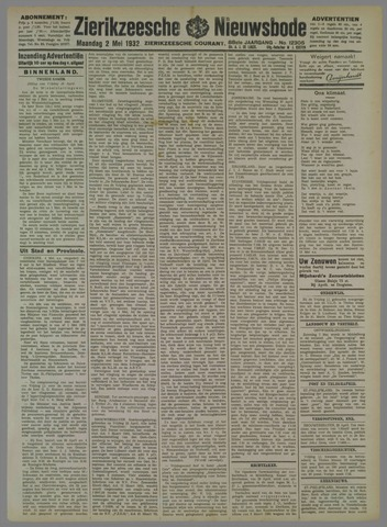 Zierikzeesche Nieuwsbode 1932-05-02