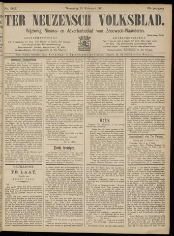 Ter Neuzensch Volksblad. Vrijzinnig nieuws- en advertentieblad voor Zeeuwsch- Vlaanderen / Zeeuwsch Nieuwsblad. Nieuws- en advertentieblad voor Zeeland 1911-02-15