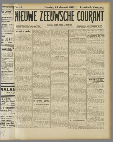 Nieuwe Zeeuwsche Courant 1918-01-22