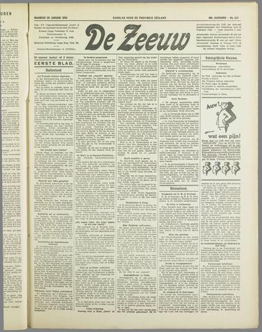 De Zeeuw. Christelijk-historisch nieuwsblad voor Zeeland 1934-01-29