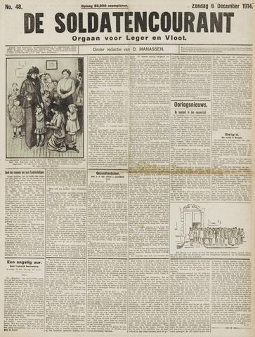 De Soldatencourant. Orgaan voor Leger en Vloot 1914-12-06
