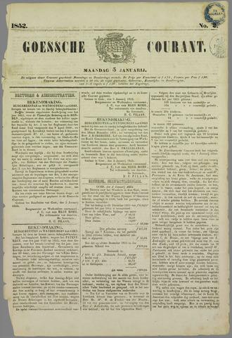 Goessche Courant 1852-01-05