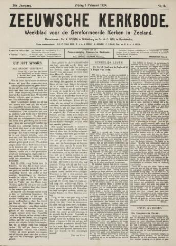 Zeeuwsche kerkbode, weekblad gewijd aan de belangen der gereformeerde kerken/ Zeeuwsch kerkblad 1924-02-01