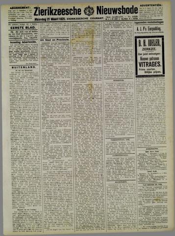 Zierikzeesche Nieuwsbode 1921-03-21