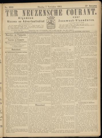 Ter Neuzensche Courant. Algemeen Nieuws- en Advertentieblad voor Zeeuwsch-Vlaanderen / Neuzensche Courant ... (idem) / (Algemeen) nieuws en advertentieblad voor Zeeuwsch-Vlaanderen 1911-11-07