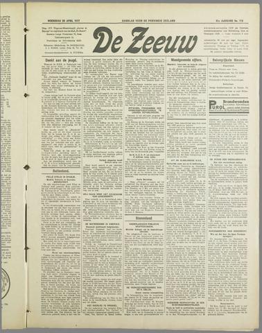 De Zeeuw. Christelijk-historisch nieuwsblad voor Zeeland 1937-04-28