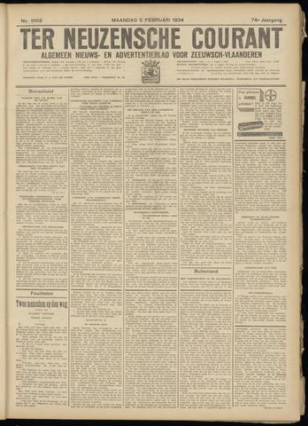 Ter Neuzensche Courant. Algemeen Nieuws- en Advertentieblad voor Zeeuwsch-Vlaanderen / Neuzensche Courant ... (idem) / (Algemeen) nieuws en advertentieblad voor Zeeuwsch-Vlaanderen 1934-02-05