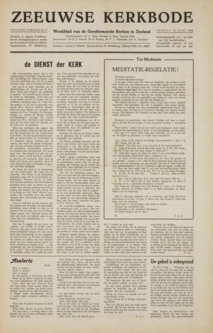 Zeeuwsche kerkbode, weekblad gewijd aan de belangen der gereformeerde kerken/ Zeeuwsch kerkblad 1956-07-13