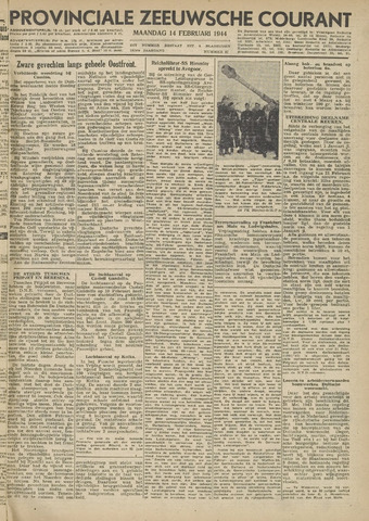 Provinciale Zeeuwse Courant 1944-02-14