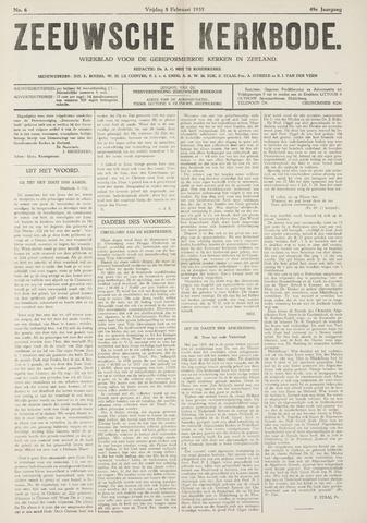 Zeeuwsche kerkbode, weekblad gewijd aan de belangen der gereformeerde kerken/ Zeeuwsch kerkblad 1935-02-08