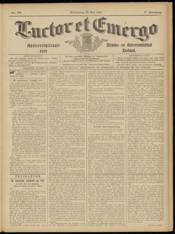 Luctor et Emergo. Antirevolutionair nieuws- en advertentieblad voor Zeeland / Zeeuwsch-Vlaanderen. Orgaan ter verspreiding van de christelijke beginselen in Zeeuwsch-Vlaanderen 1912-05-15