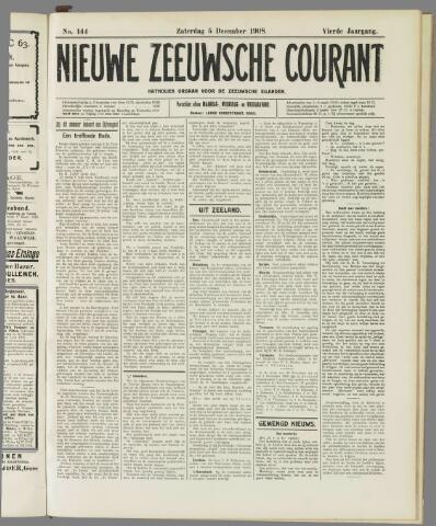 Nieuwe Zeeuwsche Courant 1908-12-05