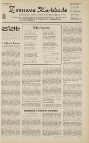 Zeeuwsche kerkbode, weekblad gewijd aan de belangen der gereformeerde kerken/ Zeeuwsch kerkblad 1963-09-06