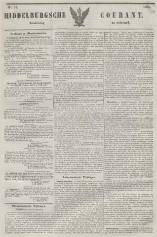 Middelburgsche Courant 1851-02-13