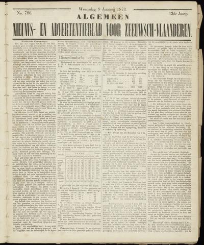 Ter Neuzensche Courant. Algemeen Nieuws- en Advertentieblad voor Zeeuwsch-Vlaanderen / Neuzensche Courant ... (idem) / (Algemeen) nieuws en advertentieblad voor Zeeuwsch-Vlaanderen 1873-01-08