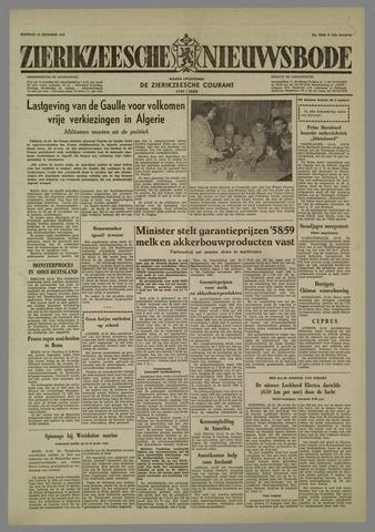 Zierikzeesche Nieuwsbode 1958-10-14