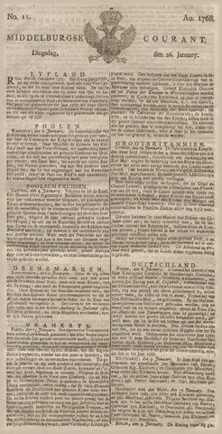 Middelburgsche Courant 1768-01-26