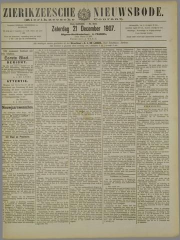 Zierikzeesche Nieuwsbode 1907-12-21