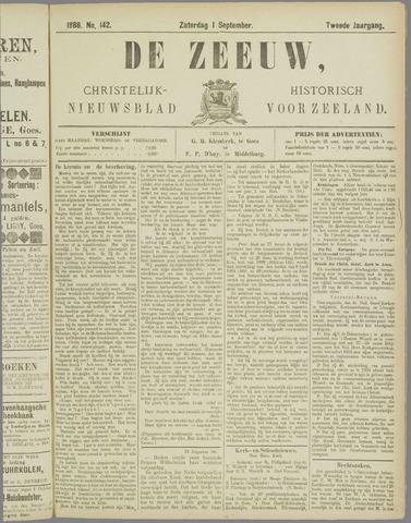 De Zeeuw. Christelijk-historisch nieuwsblad voor Zeeland 1888-09-01