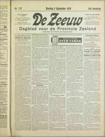 De Zeeuw. Christelijk-historisch nieuwsblad voor Zeeland 1929-09-03