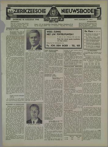 Zierikzeesche Nieuwsbode 1940-08-10
