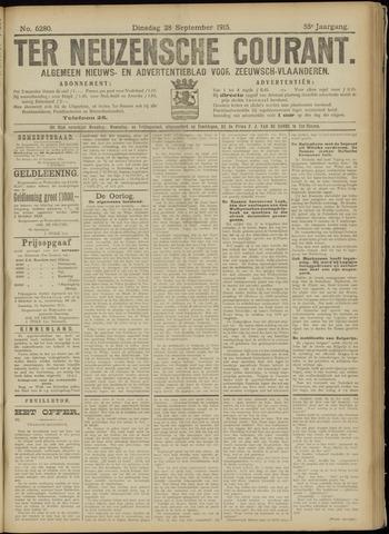 Ter Neuzensche Courant. Algemeen Nieuws- en Advertentieblad voor Zeeuwsch-Vlaanderen / Neuzensche Courant ... (idem) / (Algemeen) nieuws en advertentieblad voor Zeeuwsch-Vlaanderen 1915-09-28
