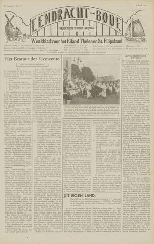 Eendrachtbode (1945-heden)/Mededeelingenblad voor het eiland Tholen (1944/45) 1949-04-08