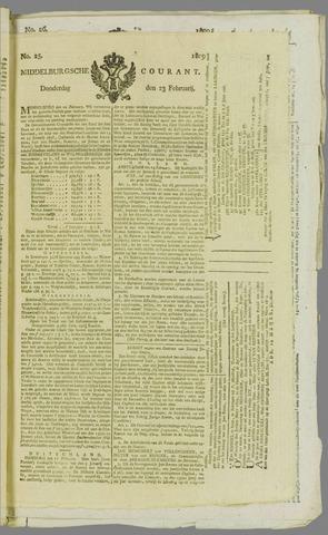 Middelburgsche Courant 1809-02-23