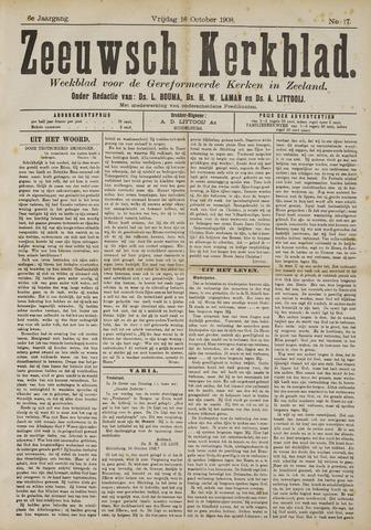 Zeeuwsche kerkbode, weekblad gewijd aan de belangen der gereformeerde kerken/ Zeeuwsch kerkblad 1908-10-16