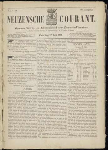 Ter Neuzensche Courant. Algemeen Nieuws- en Advertentieblad voor Zeeuwsch-Vlaanderen / Neuzensche Courant ... (idem) / (Algemeen) nieuws en advertentieblad voor Zeeuwsch-Vlaanderen 1876-06-17