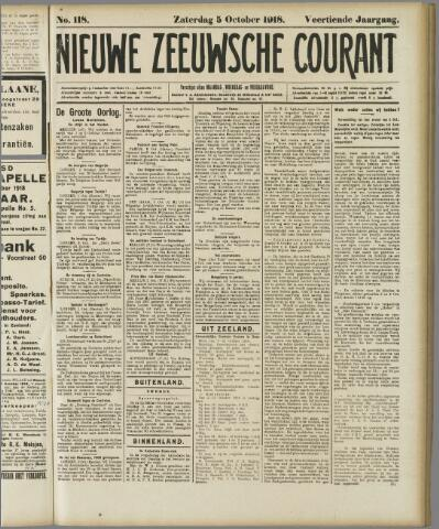 Nieuwe Zeeuwsche Courant 1918-10-05